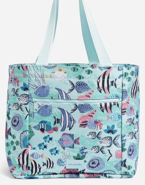 ReActive Drawstring Family Tote-Paisley Wave Fish-Vera Bradley