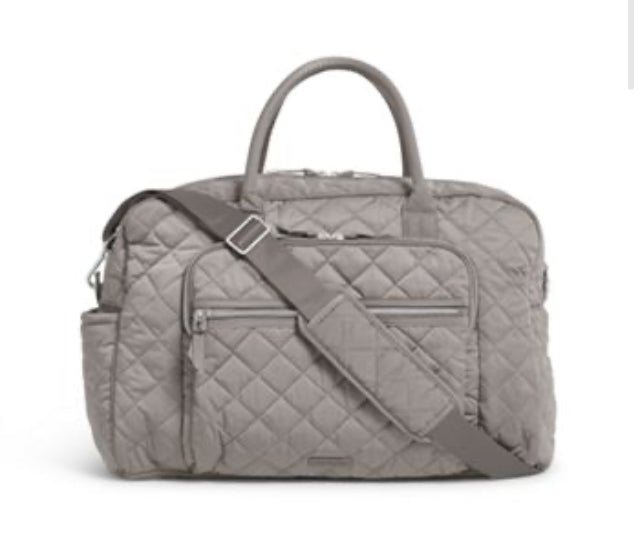 Iconic Weekender Travel Bag-Vera Bradley-Tranquil Gray