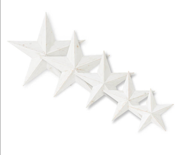 White Wooden Stars(5 Sizes Sold Separately)