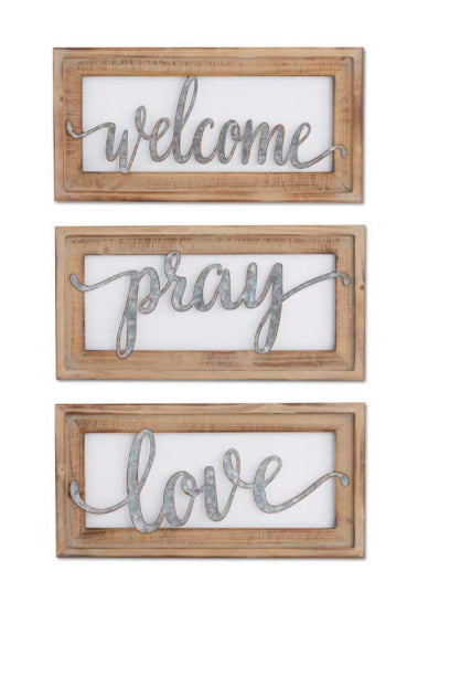 "20"" Cutout Wall Sign in Wood Frame(3 Styles Sold Separately)"