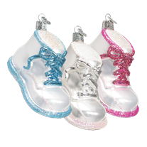Baby Shoe Ornament - Old World Christmas - 1/each assorted