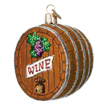 Wine Barrel Ornament - Old World Christmas