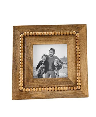 Beaded wood frame (2 STYLES)