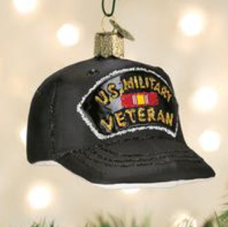 Veteran's Cap Ornament- Old World Christmas