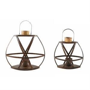 Rustic Strap Lanterns (2 Sizes Sold Separately)