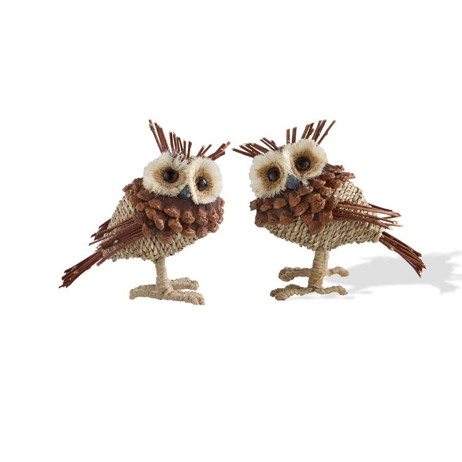Twine Cone Twig Owl - 3 Styles - 39 inches