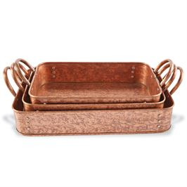Nested Copper Casserole Set