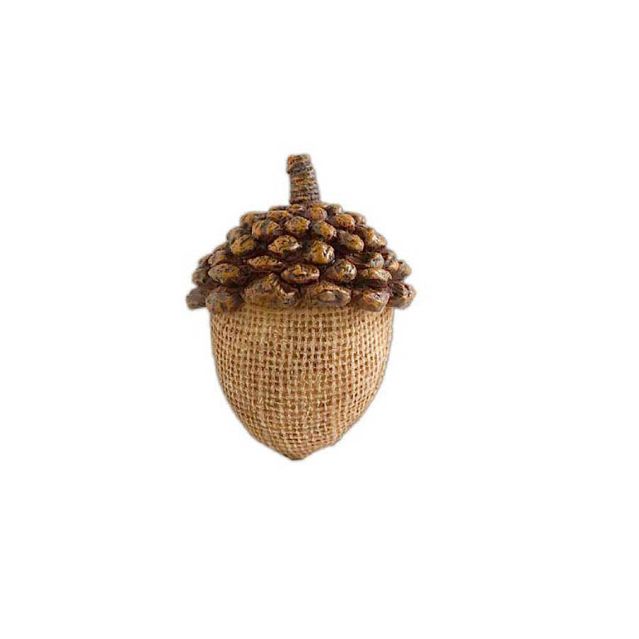 Light Brown Resin Acorn with Pinecone Top