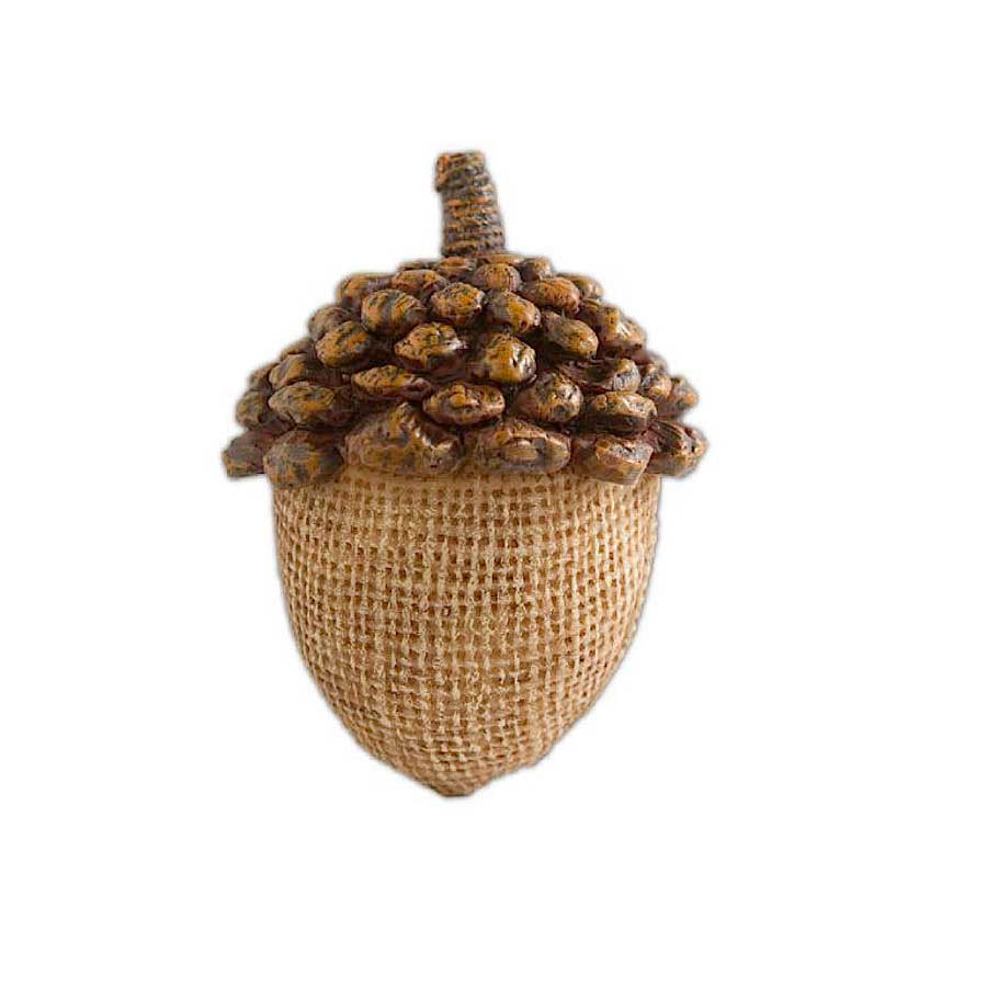 Light Brown Resin Acorn with Pinecone Top - 3.5 inches