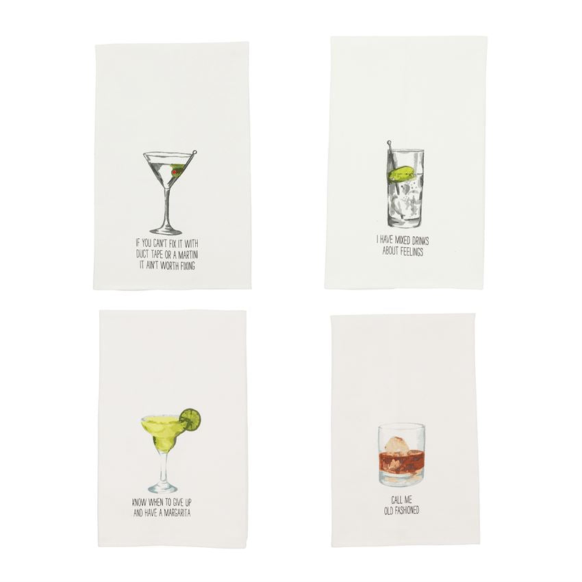 DRINK SENTIMENT DISH TOWELS (Sold Separately)