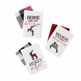 BUFFALO CHECK WAFFLE STYLE DISH TOWEL SETS-SOLD SEPARATELY