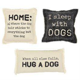 Washed Canvas Dog Pillows (3 styles Sold Separately)