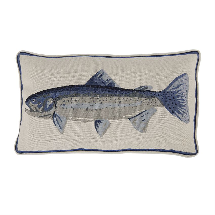 FISH TAPESTRY PILLOW
