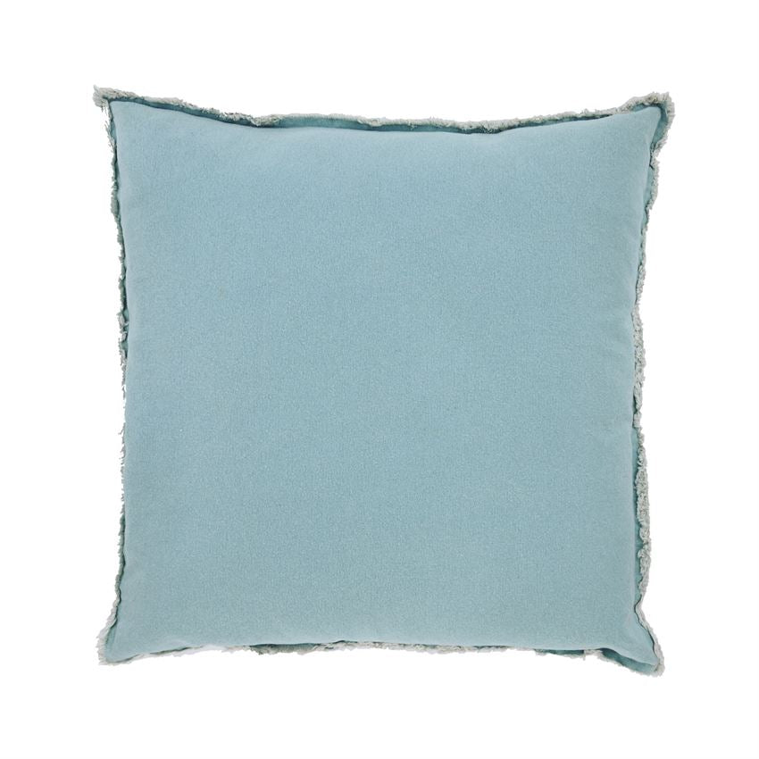 AQUA WASHED CANVAS PILLOW