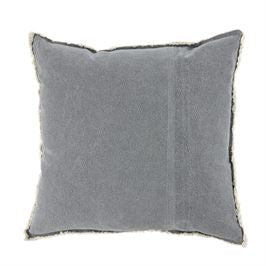GRAY WASHED CANVAS PILLOW