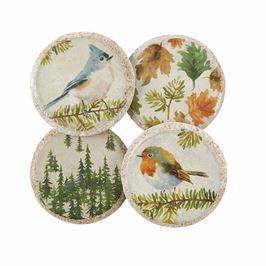 Fall Concrete Coasters (Set of 4) 3.5""