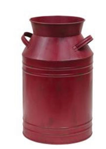 Burgundy Milk Can-(2 sides Sold Separately)
