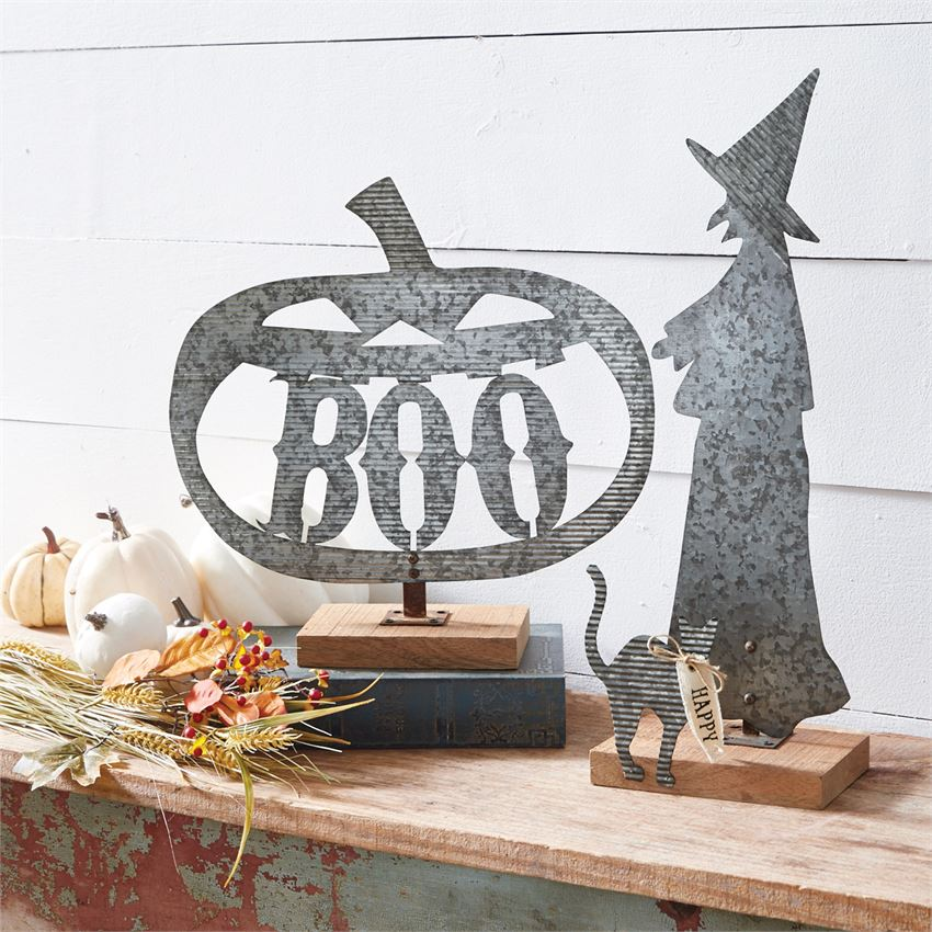 HALLOWEEN TIN DECORATIVE SITTERS