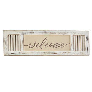 WELCOME SHUTTER PLAQUE