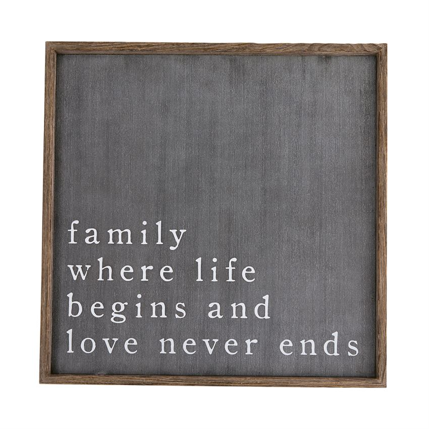 FAMILY BLACK PLAQUE