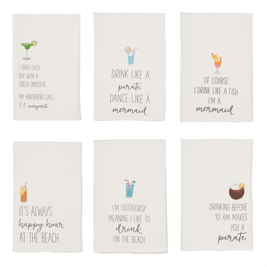 BEACH DRINKING TOWELS(6 Styles)