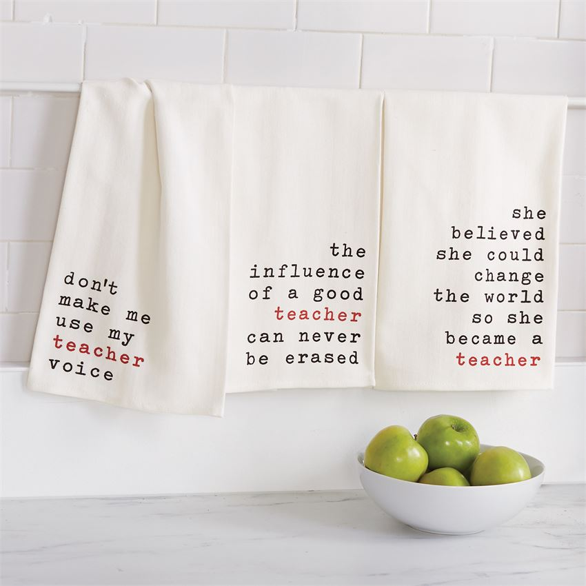 Teacher Dish Towels (Sold Separately)