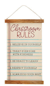 Classroom Rules Hanging Canvas