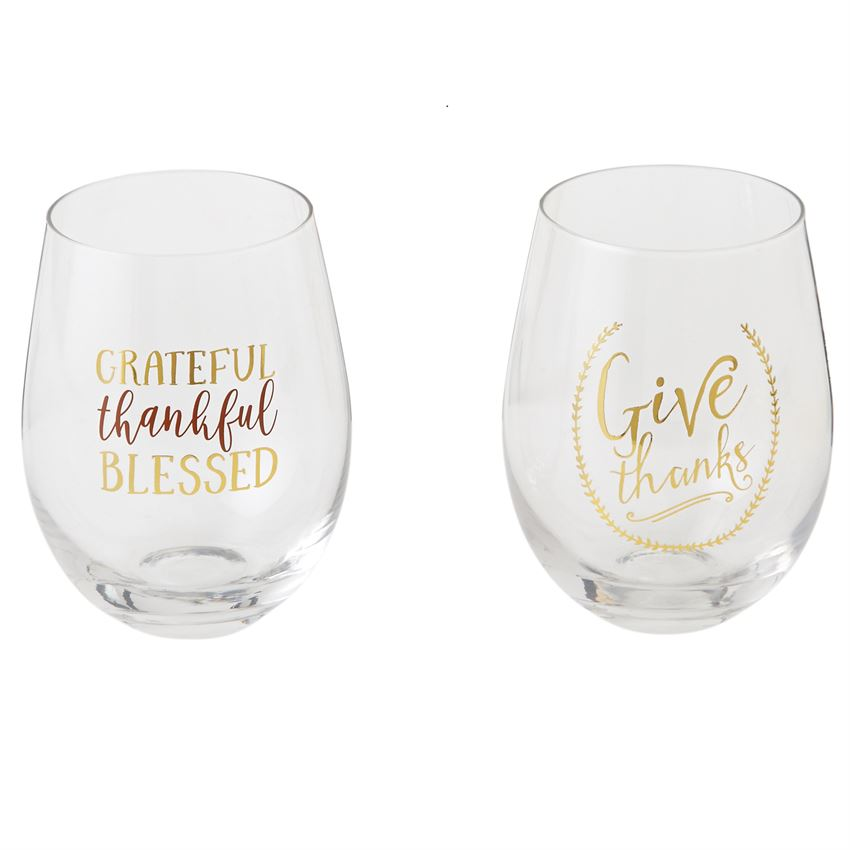 THANKFUL WINE GLASSES (2 Styles)