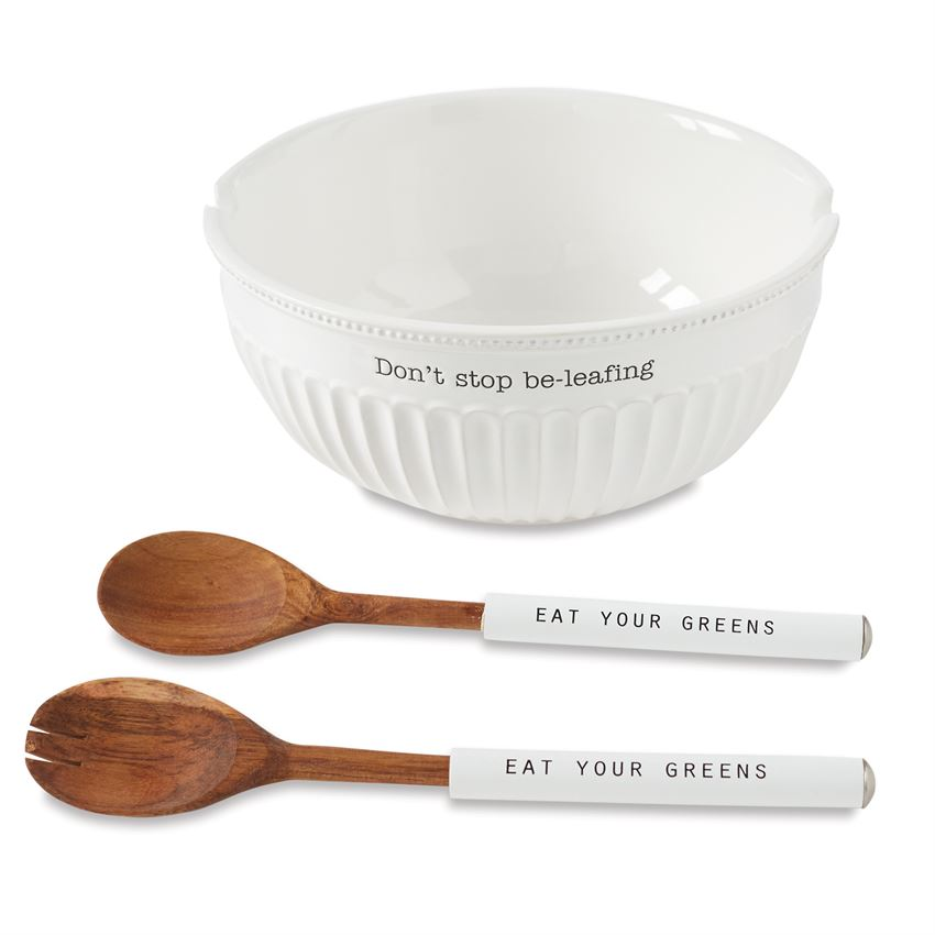 Fluted Salad Bowl Set