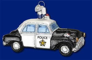 Police Car Ornament - Old World Christmas