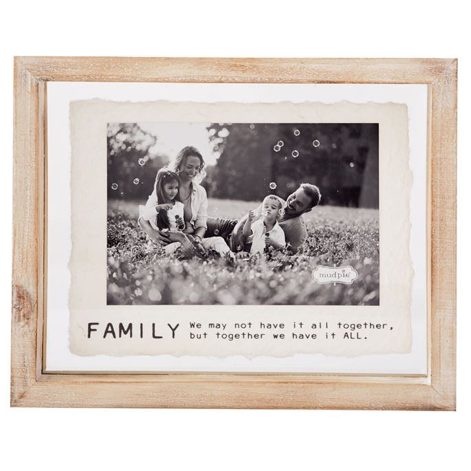 FAMILY GLASS AND WOOD FRAMES  (4 STYLES)