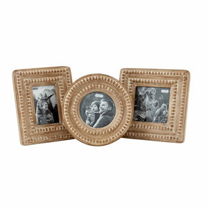 Small Beaded Wood Picture Frames - 3 Styles Sold Separately