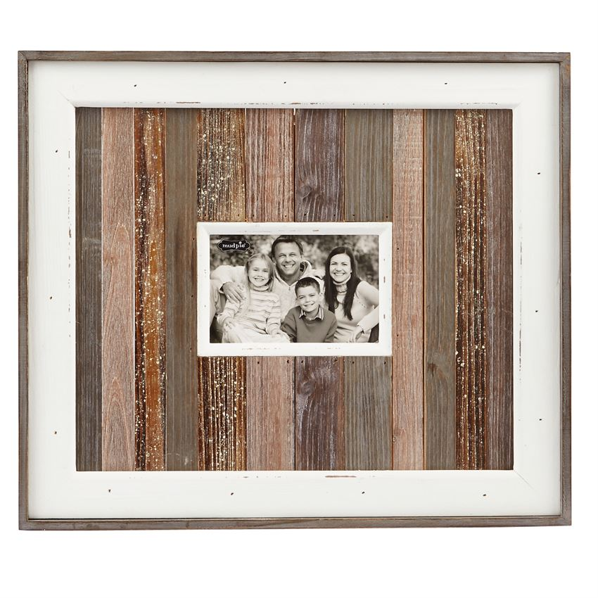 VARIEGATED WOOD PLANKED FRAME