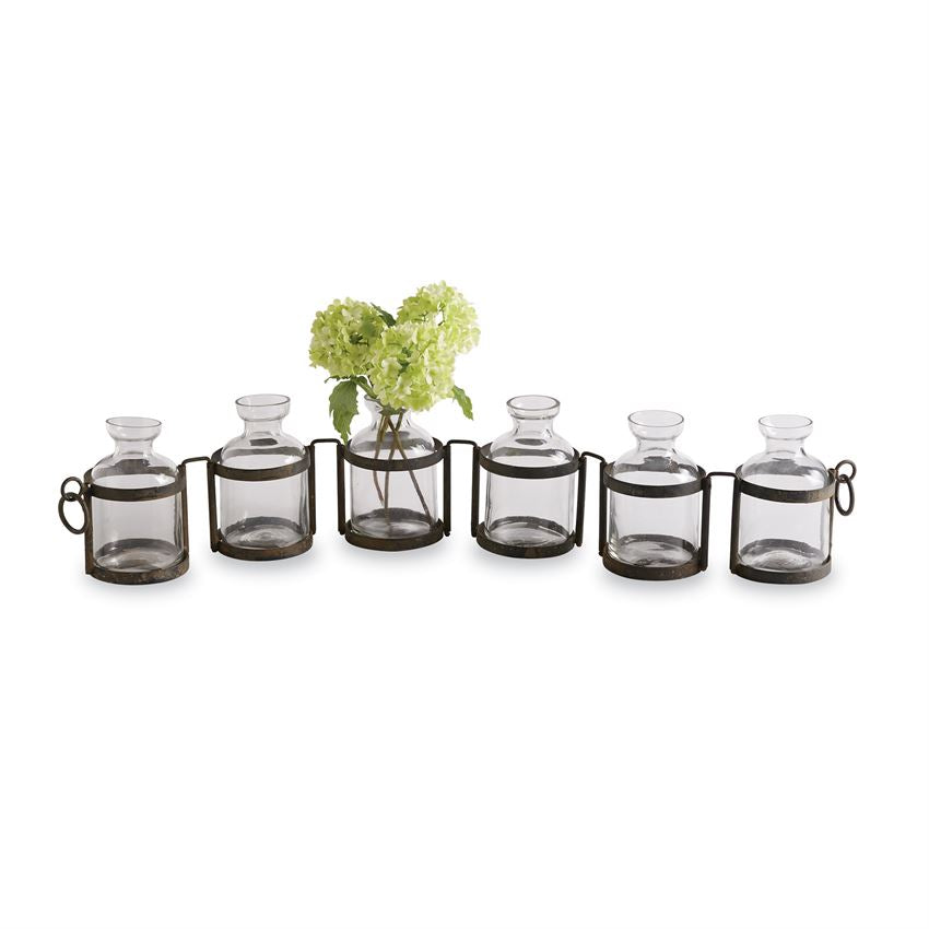 ARTICULATED METAL VASE SET