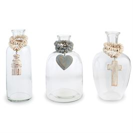 BLESSING BEAD GLASS VASES (3 STYLES)