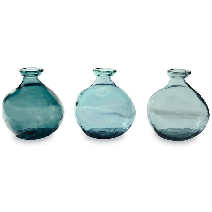 BLUE SHORT VASES (3 COLORS)