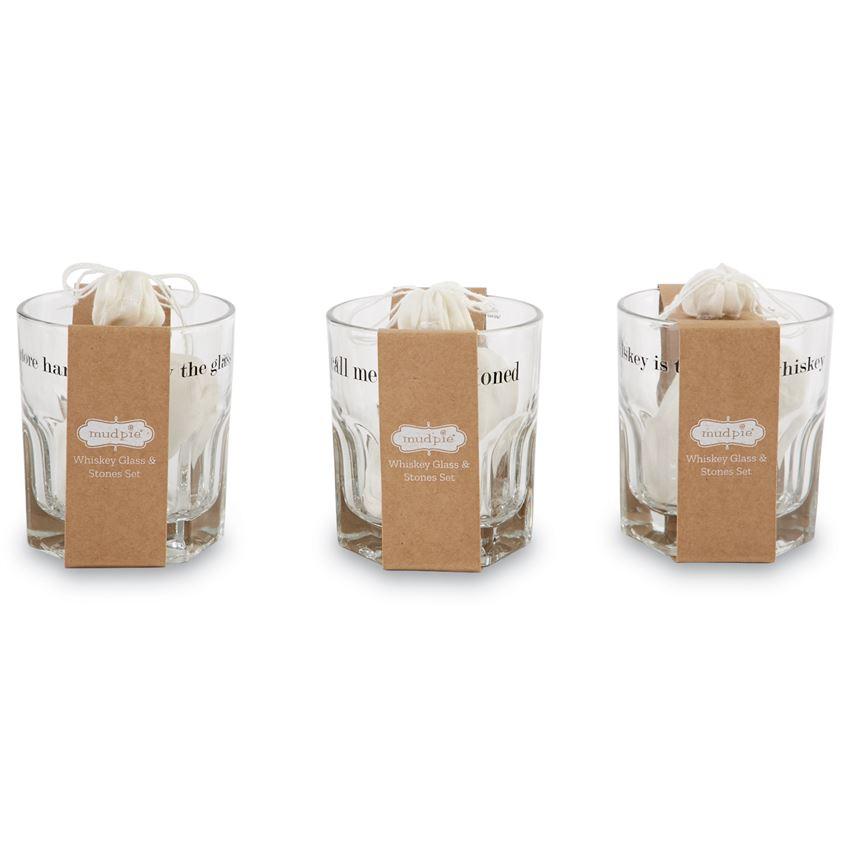 Whiskey Glass and Stones( 3 Styles)