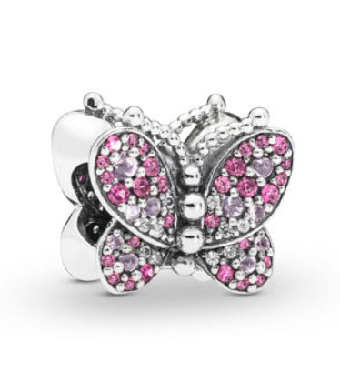 Dazzling Pink Butterfly Charm-Pandora