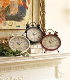 Tabletop Clock 3 colors Metal/Glass