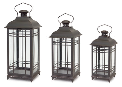 Lantern Black Rustic Glass/Metal (3 sizes)