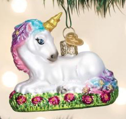Baby Unicorn-Old World Ornament