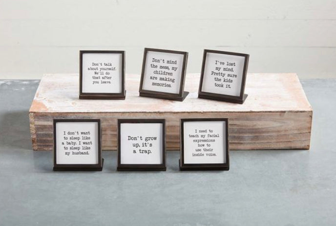 METAL EASEL PLAQUES (6 Styles Sold Separately)