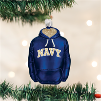 Navy Hoodie Ornament - Old World Christmas