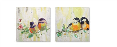 Two Birds on a Branch Painting on Canvas