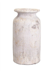 "Vase 13""H Clay ANT/GY"