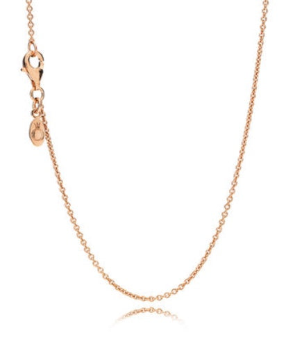 14k Rose Gold Chain Necklace - PANDORA-580413-45