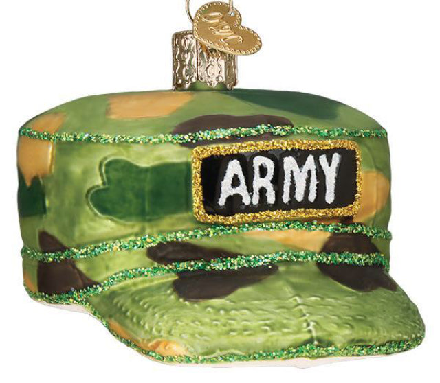 Army Cap Ornament-Old World Christmas