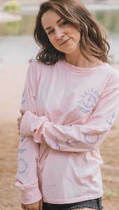Lakegirl Ringspun Sweet Dee-Long Sleeve Tee-Shell Pink-Lakegirl