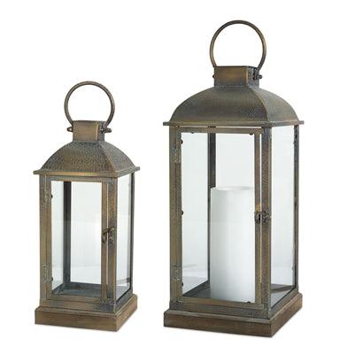 Aged Bronze Metal Lanterns (2 Sizes Sold Separately)