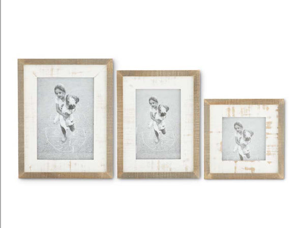 Natural and Whitewashed Wood Photo Frame(3 Sizes Sold Separately)
